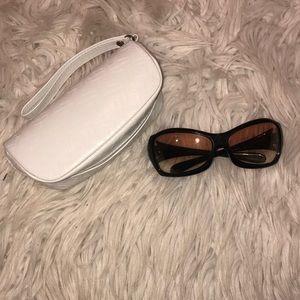 Oakley grapevine black Sunglasses + case gradient